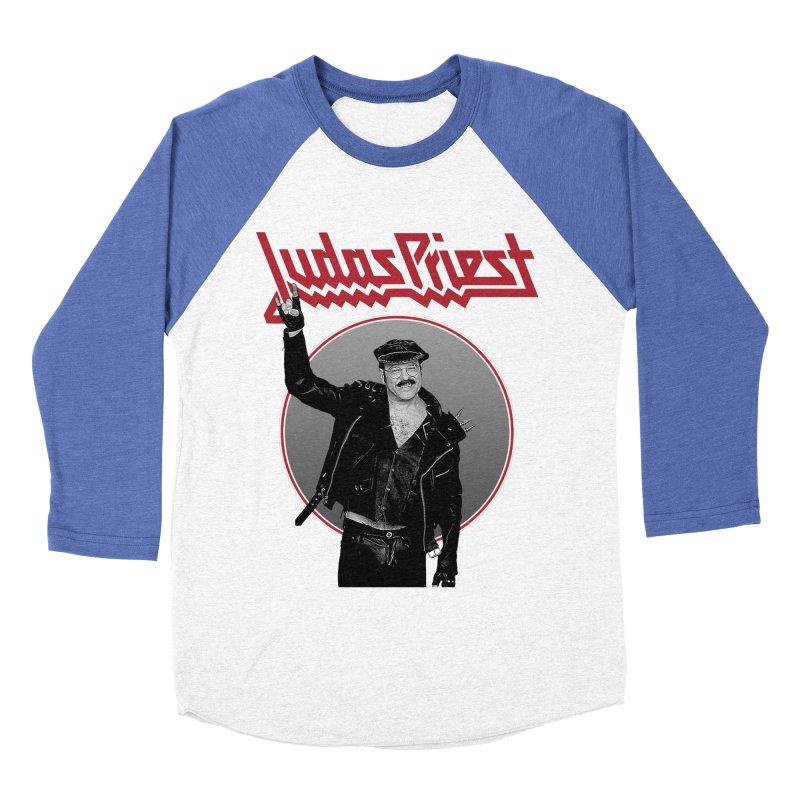 JUDAS FUNKE in Men's Baseball Triblend Longsleeve T-Shirt Tri-Blue Sleeves by Teenage Stepdad