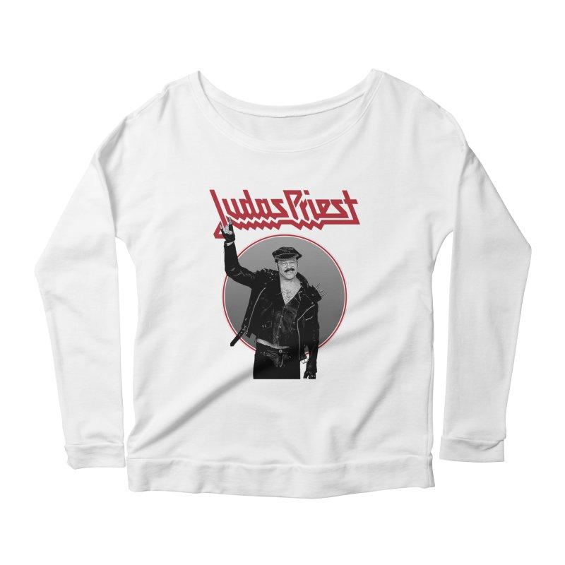 JUDAS FUNKE Women's Scoop Neck Longsleeve T-Shirt by Teenage Stepdad