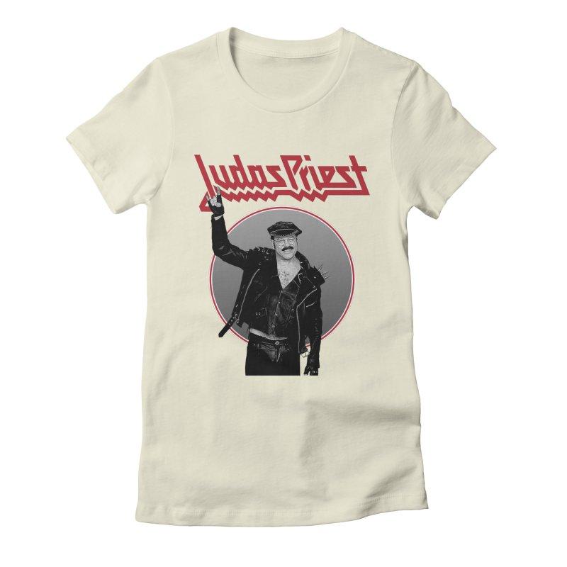 JUDAS FUNKE Women's Fitted T-Shirt by Teenage Stepdad