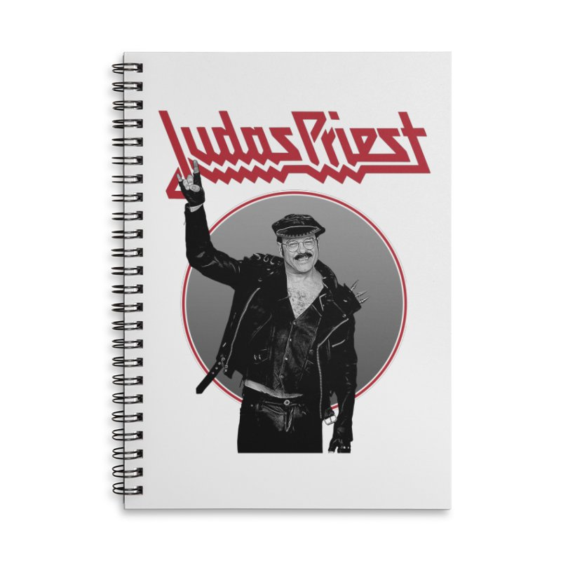 JUDAS FUNKE Accessories Lined Spiral Notebook by Teenage Stepdad