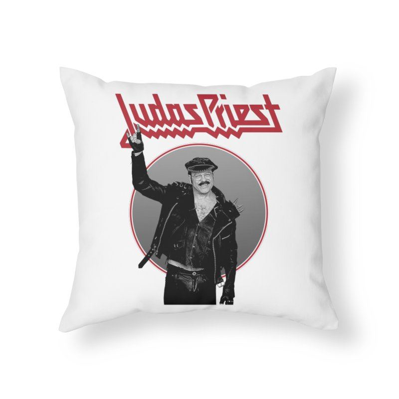 JUDAS FUNKE Home Throw Pillow by Teenage Stepdad