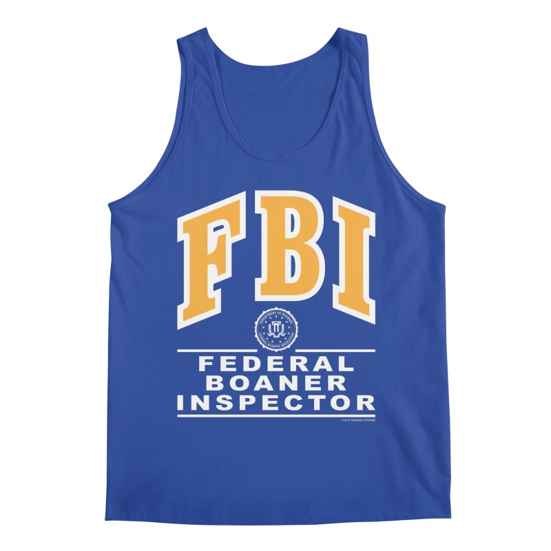 FBI Federal Boaner Inspector Men's Regular Tank by Teenage Stepdad