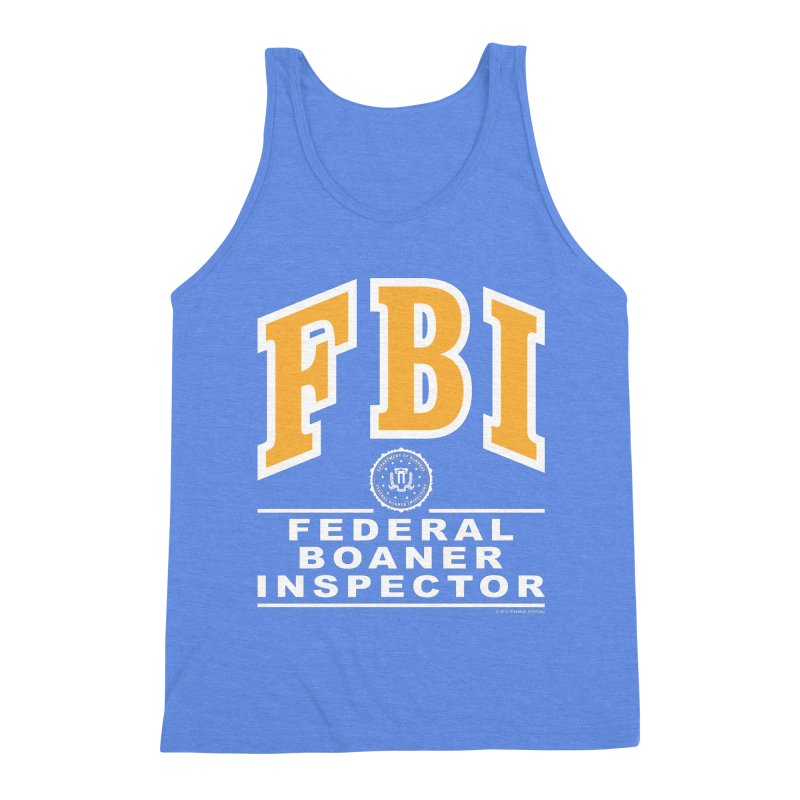 FBI Federal Boaner Inspector Men's Triblend Tank by Teenage Stepdad