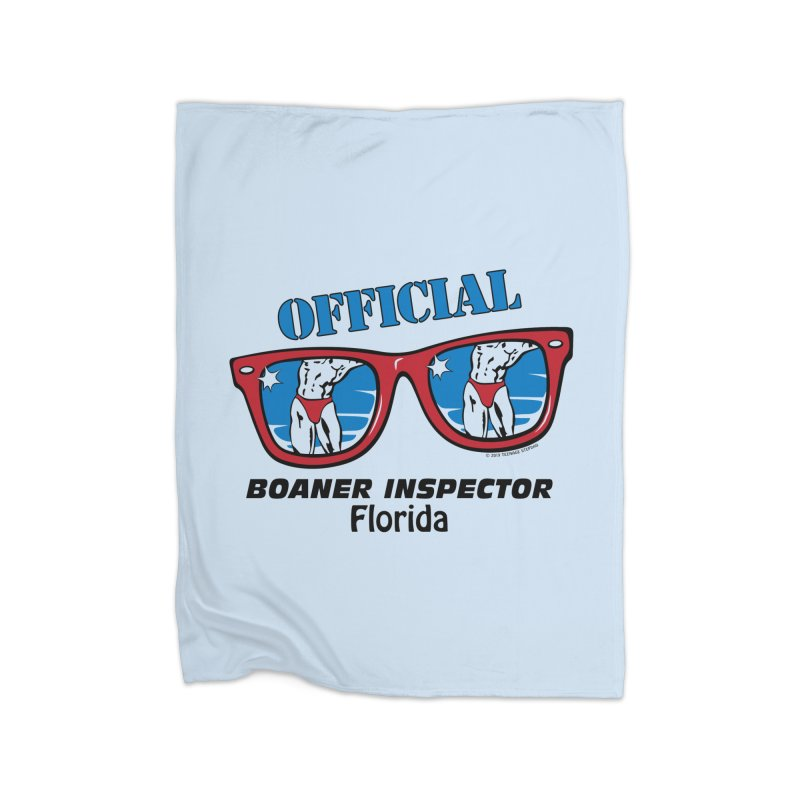 OFFICIAL BOANER INSPECTOR Florida Home Fleece Blanket Blanket by Teenage Stepdad