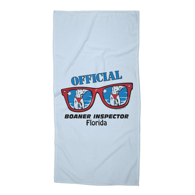 OFFICIAL BOANER INSPECTOR Florida Accessories Beach Towel by Teenage Stepdad