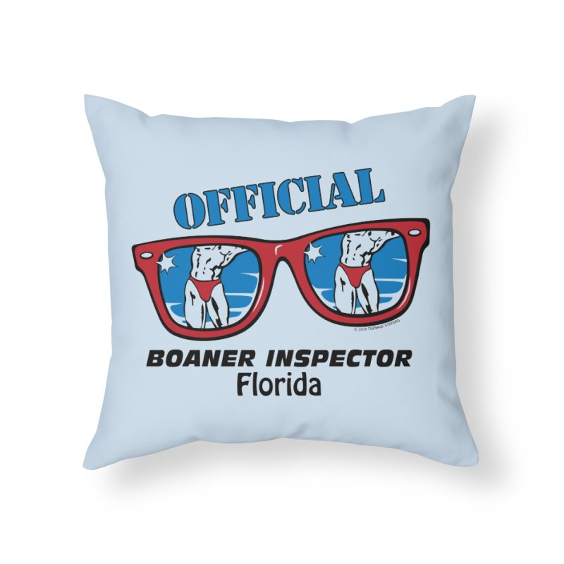 OFFICIAL BOANER INSPECTOR Florida Home Throw Pillow by Teenage Stepdad