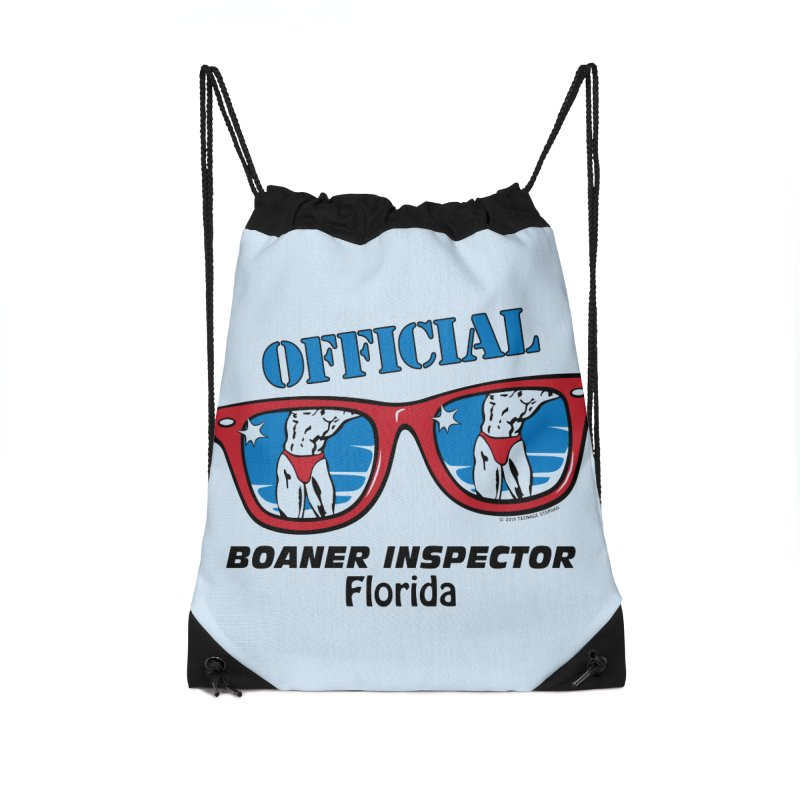 OFFICIAL BOANER INSPECTOR Florida Accessories Drawstring Bag Bag by Teenage Stepdad