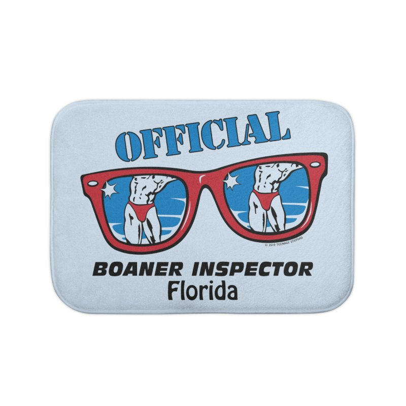 OFFICIAL BOANER INSPECTOR Florida Home Bath Mat by Teenage Stepdad