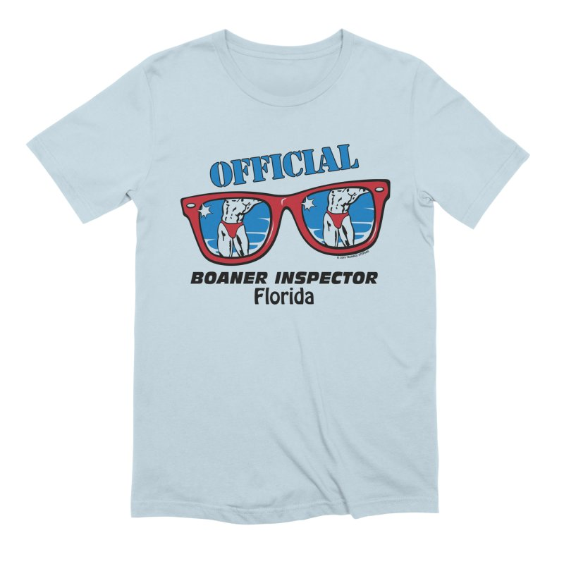 OFFICIAL BOANER INSPECTOR Florida in Men's Extra Soft T-Shirt Baby Blue by Teenage Stepdad