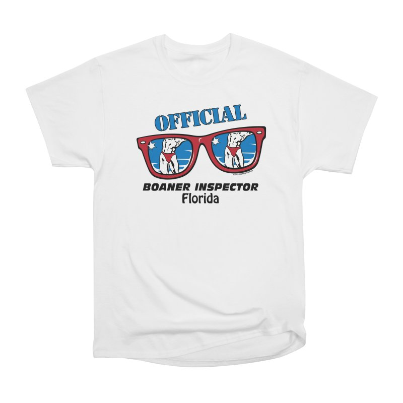 OFFICIAL BOANER INSPECTOR Florida Men's Heavyweight T-Shirt by Teenage Stepdad