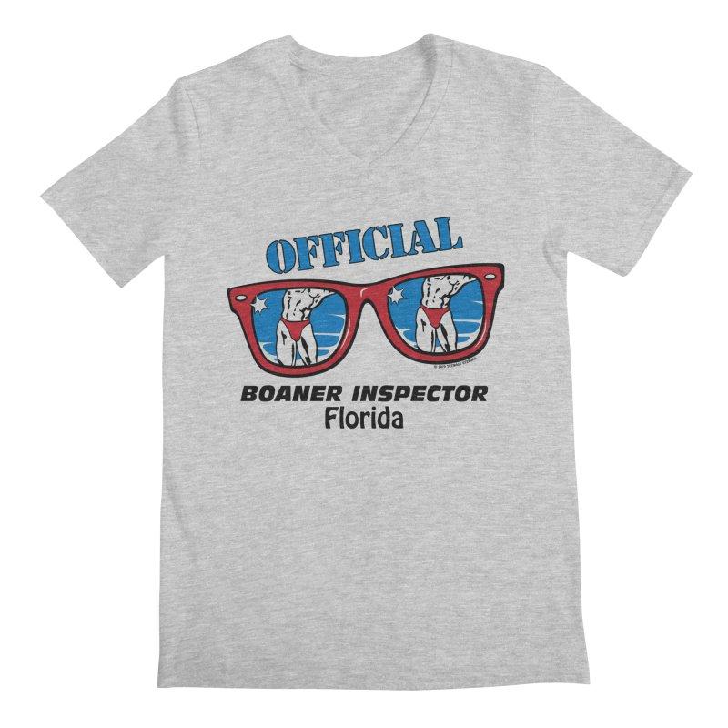 OFFICIAL BOANER INSPECTOR Florida Men's Regular V-Neck by Teenage Stepdad