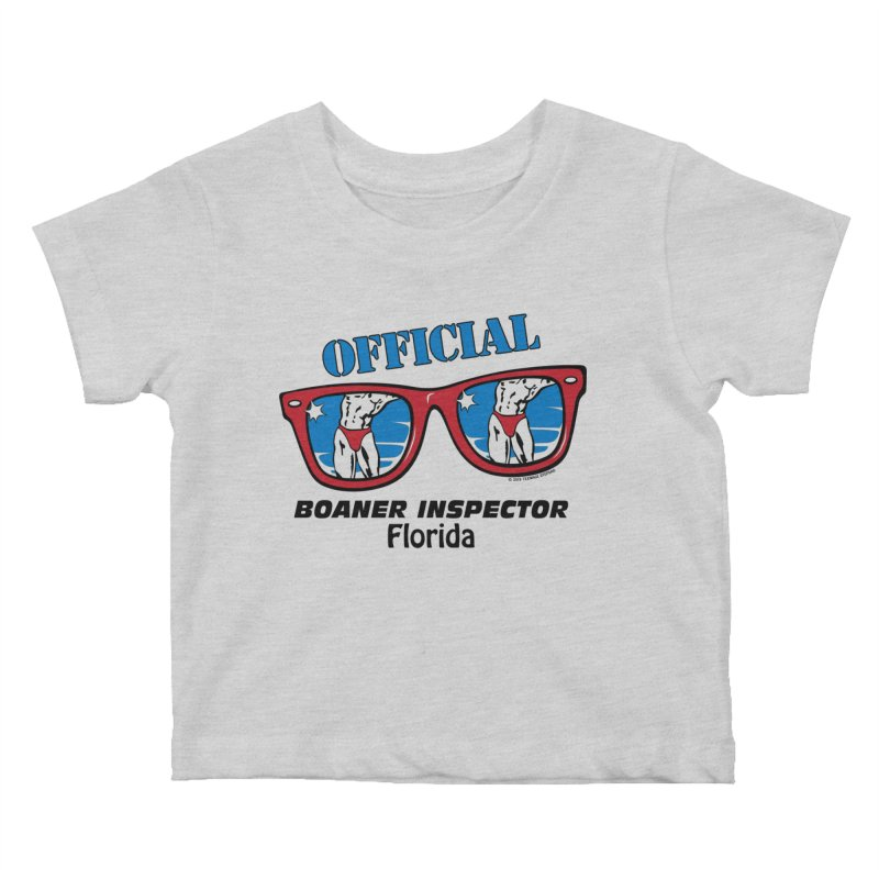 OFFICIAL BOANER INSPECTOR Florida Kids Baby T-Shirt by Teenage Stepdad