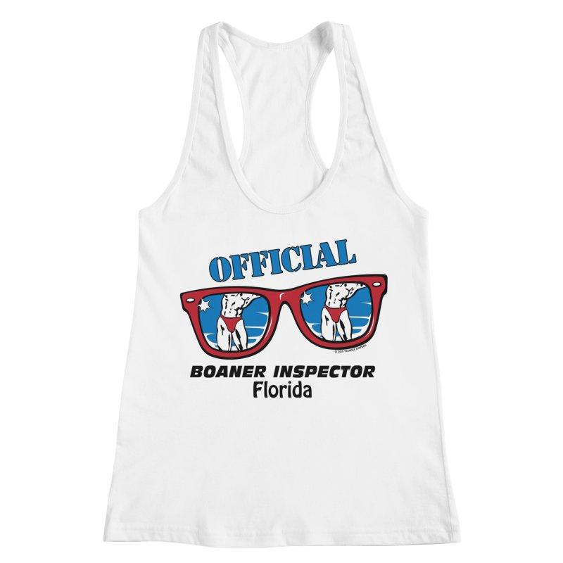 OFFICIAL BOANER INSPECTOR Florida Women's Racerback Tank by Teenage Stepdad