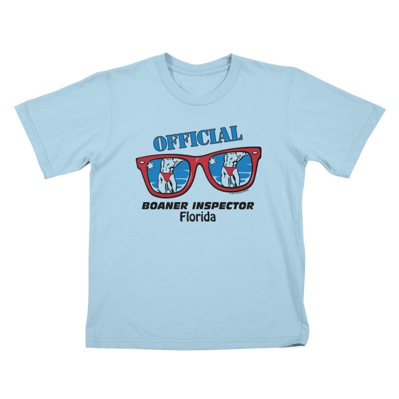 OFFICIAL BOANER INSPECTOR Florida Kids T-Shirt by Teenage Stepdad