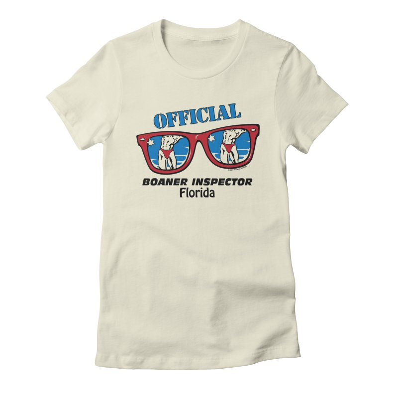 OFFICIAL BOANER INSPECTOR Florida Women's Fitted T-Shirt by Teenage Stepdad