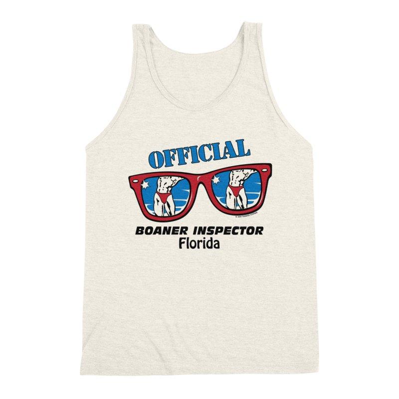 OFFICIAL BOANER INSPECTOR Florida Men's Triblend Tank by Teenage Stepdad