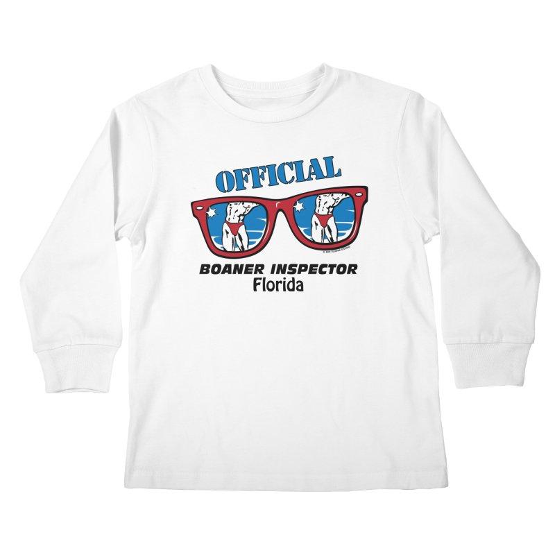 OFFICIAL BOANER INSPECTOR Florida Kids Longsleeve T-Shirt by Teenage Stepdad