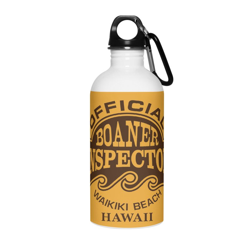 OFFICIAL BOANER INSPECTOR WAIKIKI Waves Accessories Water Bottle by Teenage Stepdad
