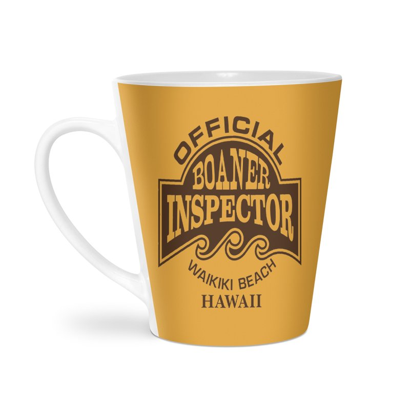 OFFICIAL BOANER INSPECTOR WAIKIKI Waves Accessories Latte Mug by Teenage Stepdad