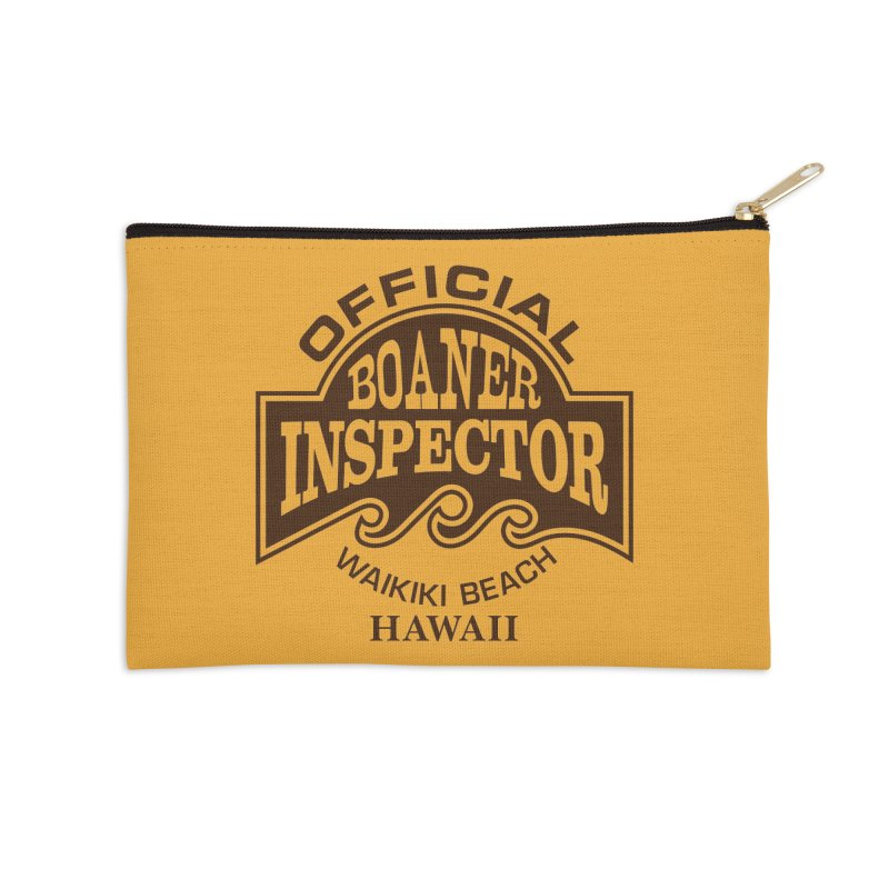 OFFICIAL BOANER INSPECTOR WAIKIKI Waves Accessories Zip Pouch by Teenage Stepdad