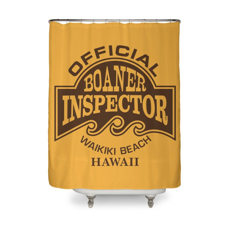 OFFICIAL BOANER INSPECTOR WAIKIKI Waves Home Shower Curtain by Teenage Stepdad