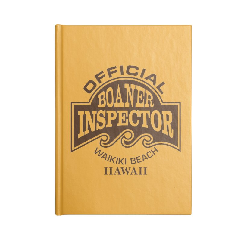 OFFICIAL BOANER INSPECTOR WAIKIKI Waves Accessories Blank Journal Notebook by Teenage Stepdad