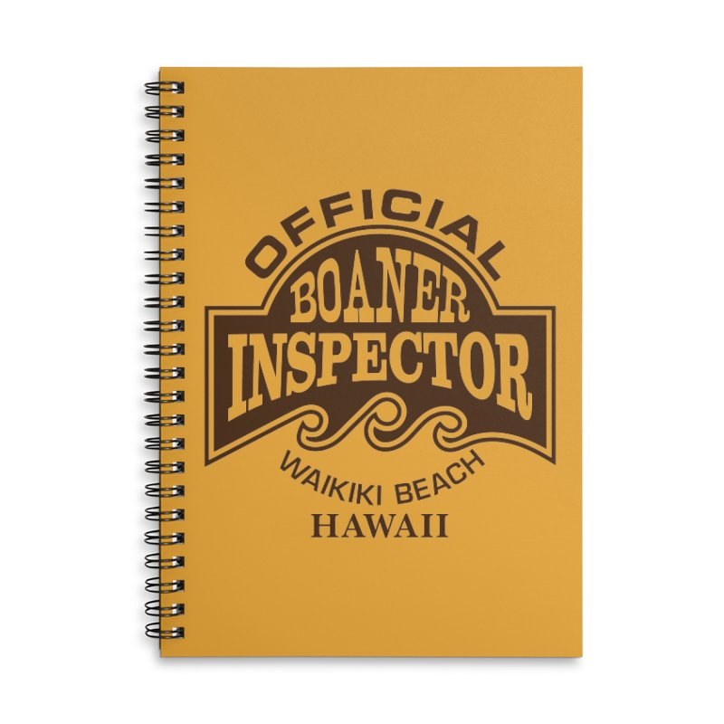 OFFICIAL BOANER INSPECTOR WAIKIKI Waves Accessories Lined Spiral Notebook by Teenage Stepdad