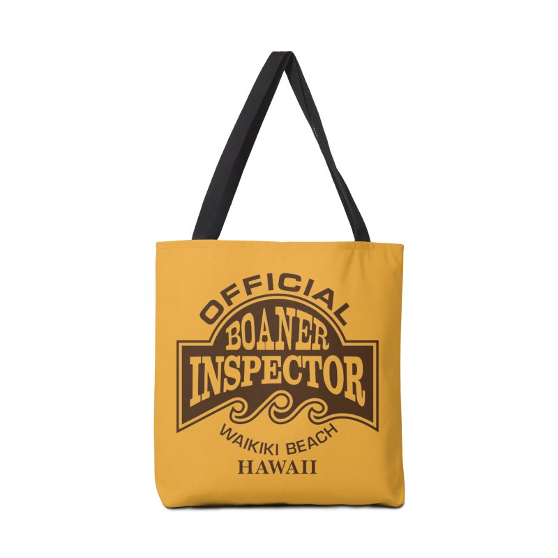 OFFICIAL BOANER INSPECTOR WAIKIKI Waves Accessories Tote Bag Bag by Teenage Stepdad