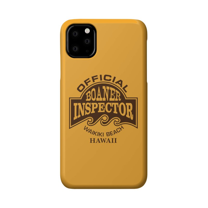 OFFICIAL BOANER INSPECTOR WAIKIKI Waves Accessories Phone Case by Teenage Stepdad
