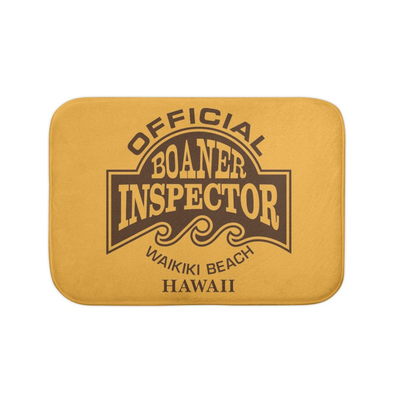 OFFICIAL BOANER INSPECTOR WAIKIKI Waves Home Bath Mat by Teenage Stepdad