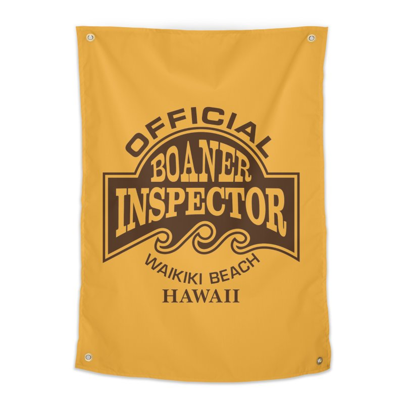 OFFICIAL BOANER INSPECTOR WAIKIKI Waves Home Tapestry by Teenage Stepdad