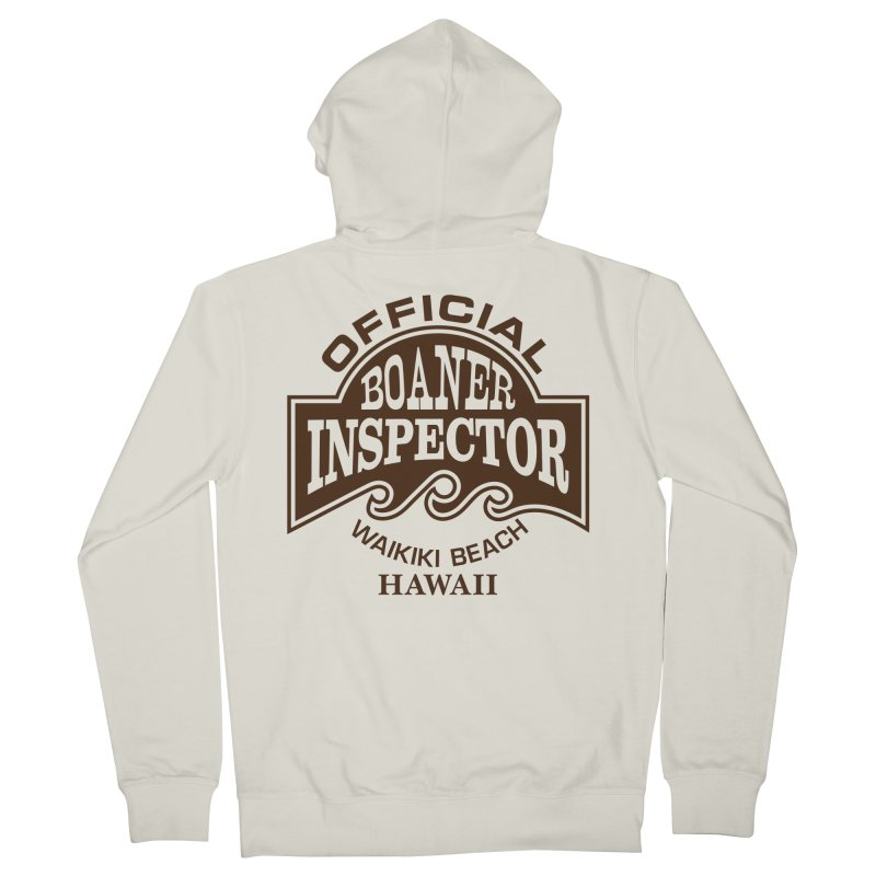 OFFICIAL BOANER INSPECTOR WAIKIKI Waves Men's French Terry Zip-Up Hoody by Teenage Stepdad