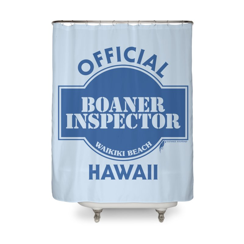 OFFICIAL BOANER INSPECTOR WAIKIKI classic Home Shower Curtain by Teenage Stepdad