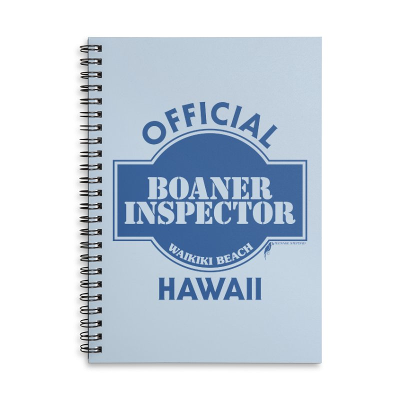 OFFICIAL BOANER INSPECTOR WAIKIKI classic Accessories Lined Spiral Notebook by Teenage Stepdad