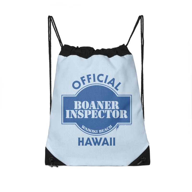 OFFICIAL BOANER INSPECTOR WAIKIKI classic Accessories Drawstring Bag Bag by Teenage Stepdad