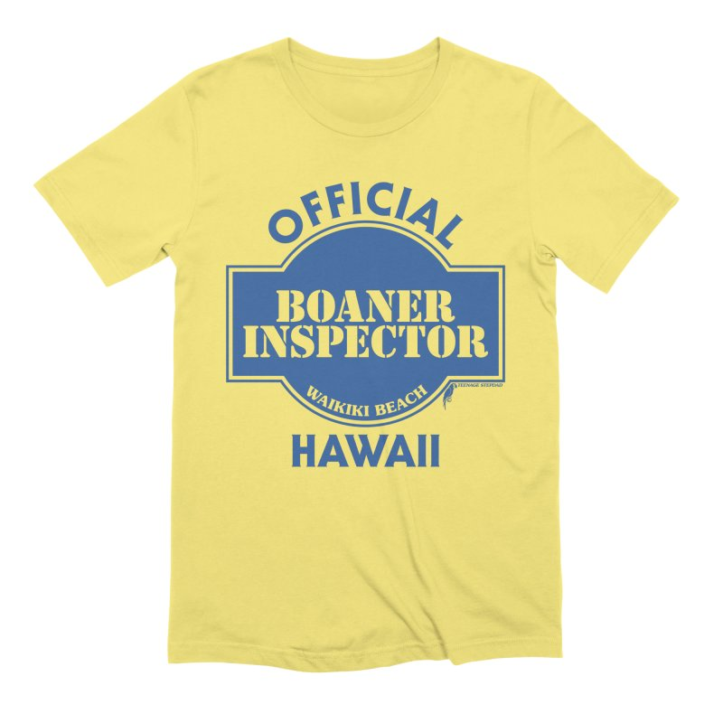 OFFICIAL BOANER INSPECTOR WAIKIKI classic in Men's Extra Soft T-Shirt Light Yellow by Teenage Stepdad