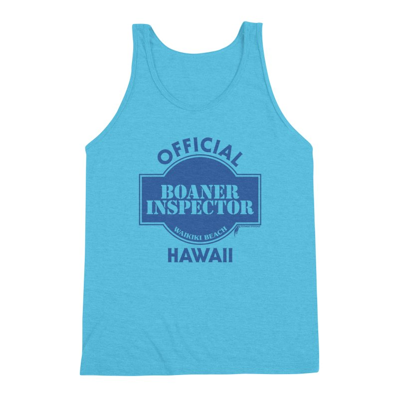 OFFICIAL BOANER INSPECTOR WAIKIKI classic Men's Triblend Tank by Teenage Stepdad