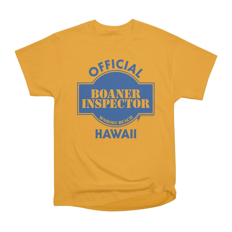 OFFICIAL BOANER INSPECTOR WAIKIKI classic Men's Heavyweight T-Shirt by Teenage Stepdad