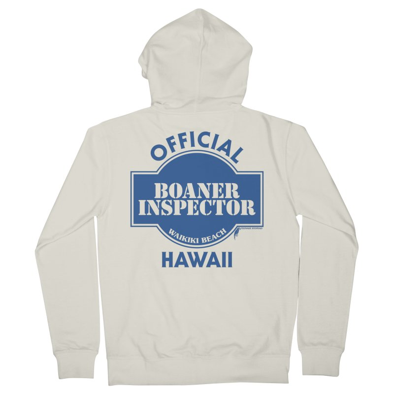 OFFICIAL BOANER INSPECTOR WAIKIKI classic Women's French Terry Zip-Up Hoody by Teenage Stepdad