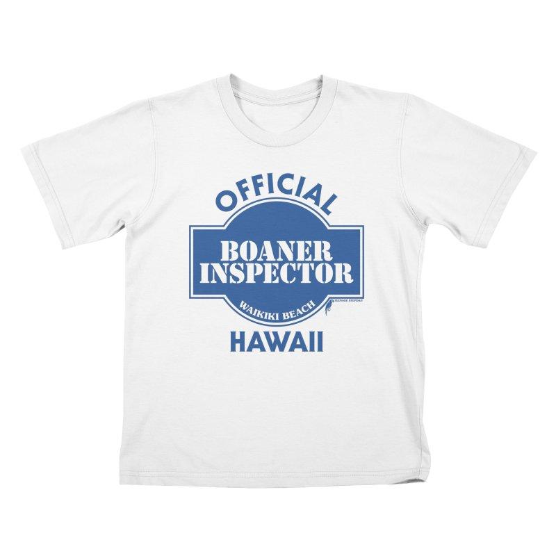 OFFICIAL BOANER INSPECTOR WAIKIKI classic Kids T-Shirt by Teenage Stepdad