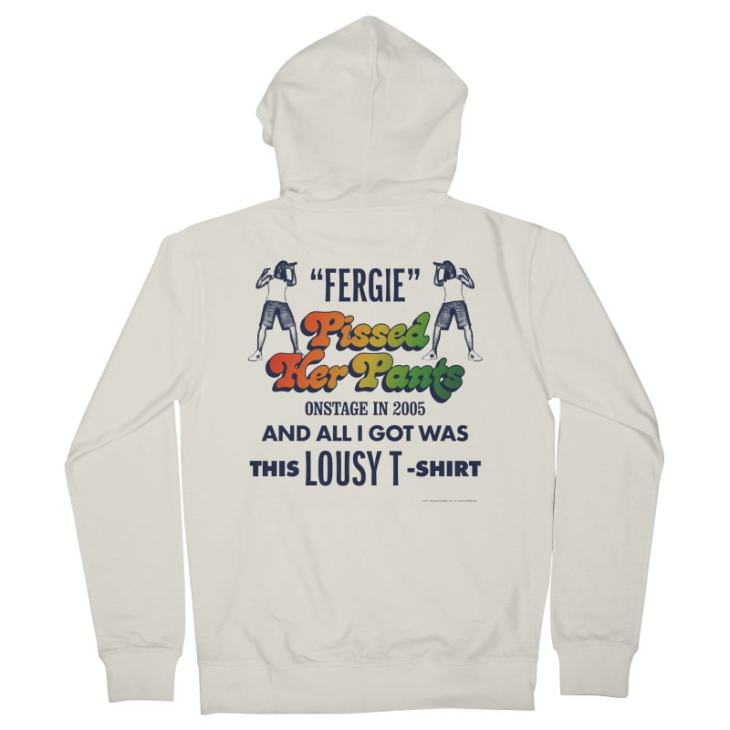NEVER FERGET Women's French Terry Zip-Up Hoody by Teenage Stepdad
