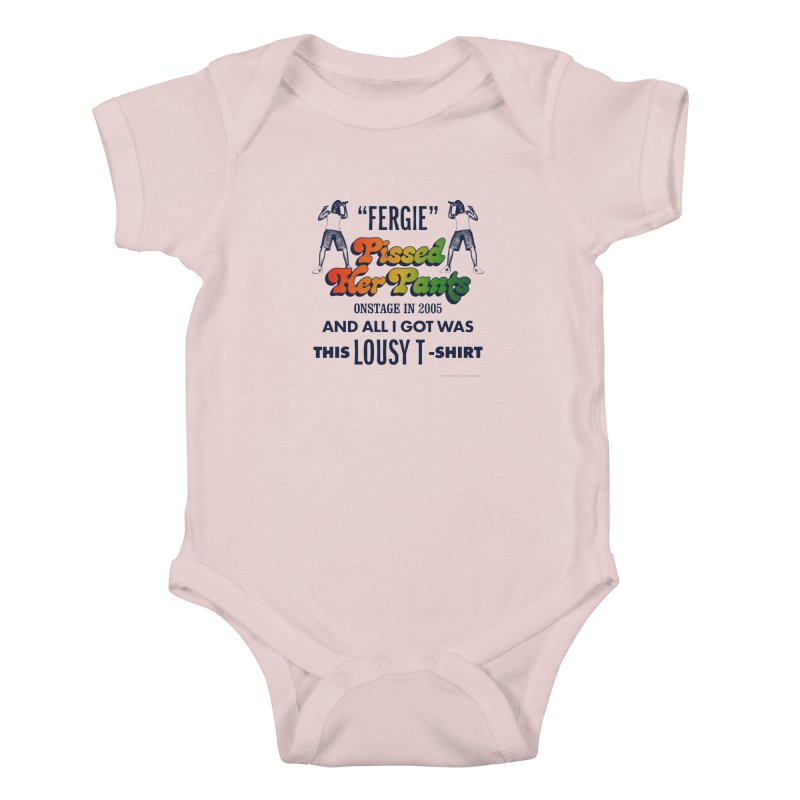 NEVER FERGET Kids Baby Bodysuit by Teenage Stepdad