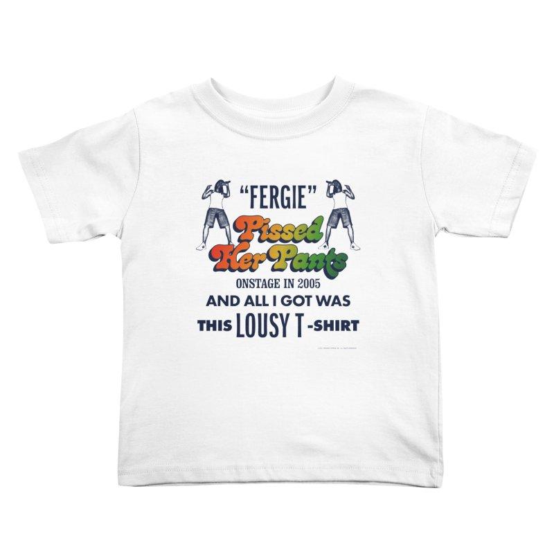NEVER FERGET Kids Toddler T-Shirt by Teenage Stepdad