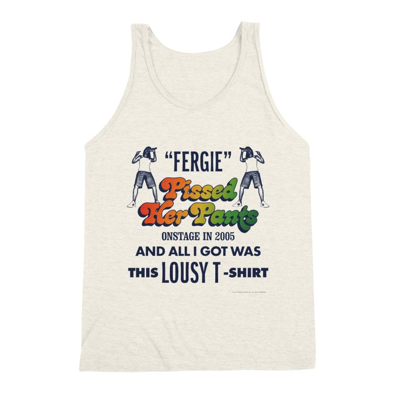 NEVER FERGET Men's Triblend Tank by Teenage Stepdad