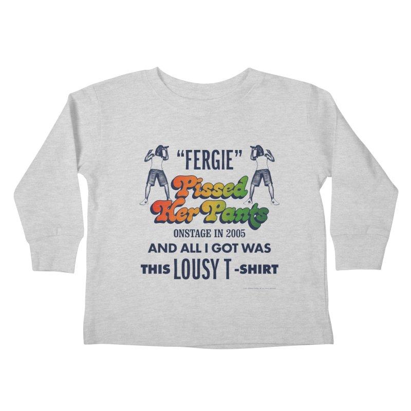 NEVER FERGET Kids Toddler Longsleeve T-Shirt by Teenage Stepdad