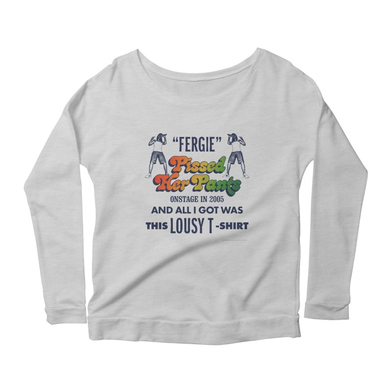 NEVER FERGET Women's Scoop Neck Longsleeve T-Shirt by Teenage Stepdad