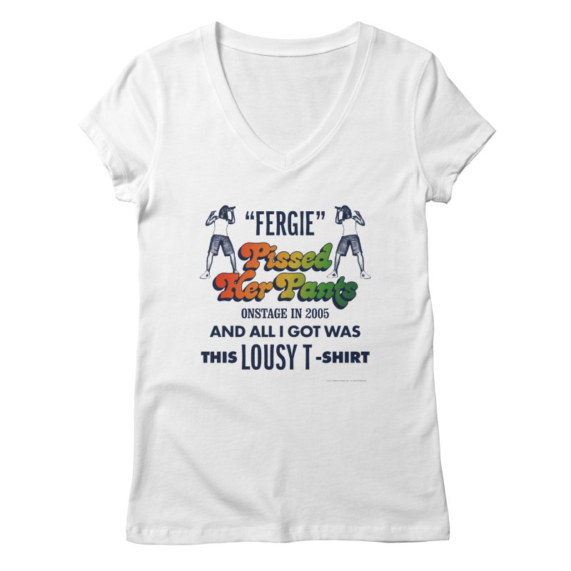 NEVER FERGET Women's Regular V-Neck by Teenage Stepdad