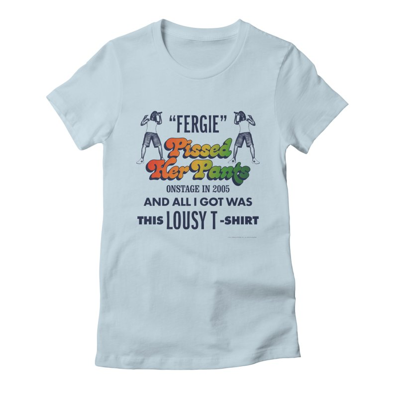 NEVER FERGET Women's Fitted T-Shirt by Teenage Stepdad
