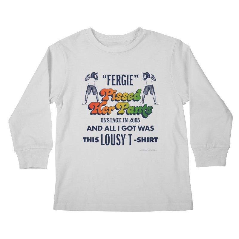 NEVER FERGET Kids Longsleeve T-Shirt by Teenage Stepdad
