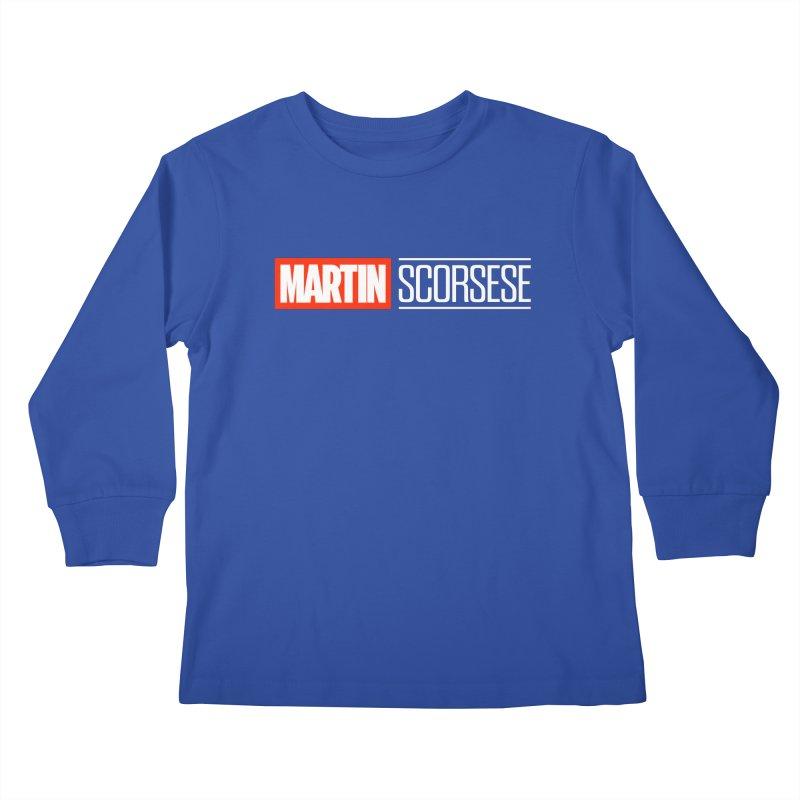 MARVEL SCORSESE Kids Longsleeve T-Shirt by Teenage Stepdad